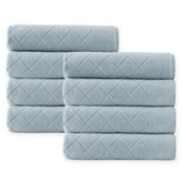 Enchante Home® Gracious 8-Piece Turkish Cotton Hand Towel Set in Green