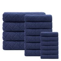Enchante Home® Gracious 16-Piece Turkish Cotton Towel Set in Navy