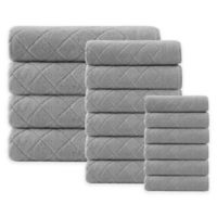 Enchante Home® Gracious 16-Piece Turkish Cotton Towel Set in Silver