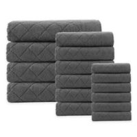 Enchante Home® Gracious 16-Piece Turkish Cotton Towel Set in Anthracite