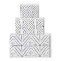 Enchante Home Glamour Turkish Cotton 6-Piece Towel Set in Silver