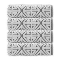 Enchante Home Glamour Turkish Cotton Bath Towels in Anthracite (Set of 4)