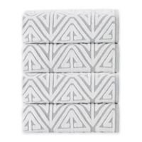 Enchante Home Glamour Turkish Cotton Bath Towels in Silver (Set of 4)