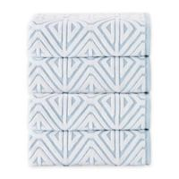 Enchante Home Glamour Turkish Cotton Bath Towels in Turquoise (Set of 4)