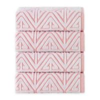 Enchante Home Glamour Turkish Cotton Bath Towels in Pink (Set of 4)