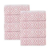 Enchante Home Glamour Turkish Cotton Hand Towels in Pink (Set of 8)