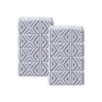Enchante Home Glamour Turkish Cotton Washcloths in Anthracite (Set of 8)