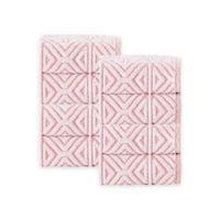 Enchante Home Glamour Turkish Cotton Washcloths in Pink (Set of 8)