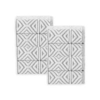Enchante Home Glamour Turkish Cotton Washcloths in Silver (Set of 8)