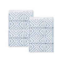 Enchante Home Glamour Turkish Cotton Washcloths in Turquoise (Set of 8)