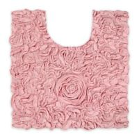 "Bellflower 20"" Square Contour Bath Mat in Pink"