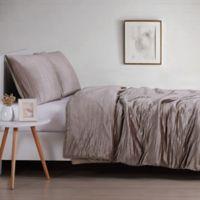 Christian Sirano Crinkle Velvet King Comforter Set in Rose