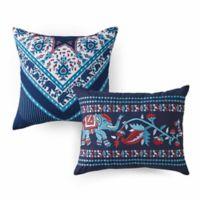 Azalea Skye® Amena Embroidered Throw Pillows in Indigo (Set of 2)