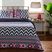 Azalea Skye® Kilim Stripe Reversible Twin Quilt Set in Indigo