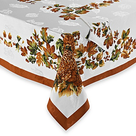 Harvest Turkey Tablecloth And Napkin Bed Bath Amp Beyond