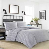 Nautica® Coleridge Stripe Twin Duvet Set in Charcoal