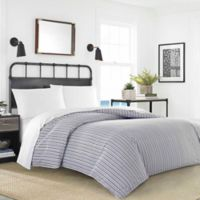 Nautica® Coleridge Stripe Twin Duvet Bonus Set in Charcoal