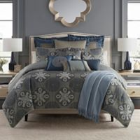 Waterford® Jonet King Duvet Cover Set in Indigo