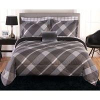 Beco Austin 8-Piece Reversible Full Comforter Set in Black/White
