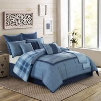 Harlow 10-Piece Full Comforter Set in Blue