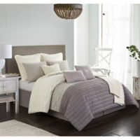 Carrington 10-Piece Full Comforter Set in Taupe