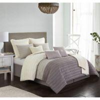 Carrington 10-Piece California King Comforter Set in Taupe