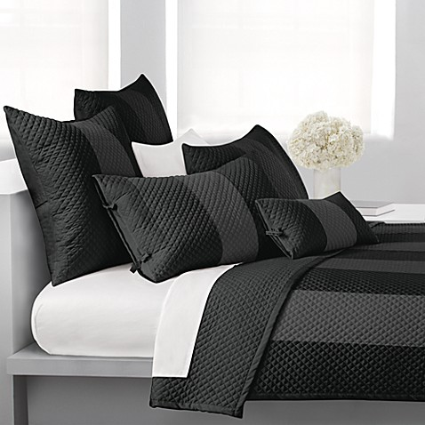 DKNY Harmony Standard Pillow Sham in Black