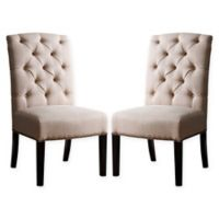 Sienna Dining Chairs in Beige (Set of 2)