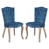 Abbyson Living Eli Dining Chairs in Blue (Set of 2)