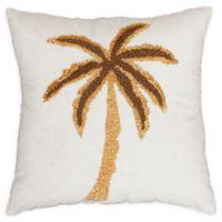 Thro Marley Beaded Palm Tree Square Throw Pillow