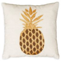 Thro Paulina Beaded Pineapple Square Throw Pillow