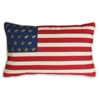 Thro American Flag Oblong Throw Pillow in Red/Blue