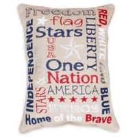 Buy Red White Blue Throw Pillow Bed Bath Beyond