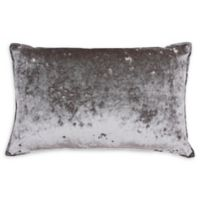 Thro Ibenz Ice Velvet Oblong Throw Pillow in Grey/Silver