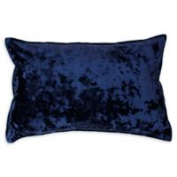 Thro Ibenz Ice Velvet Square Throw Pillow in Dark Blue