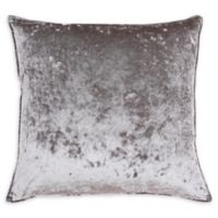 Thro Ibenz Ice Velvet Square Throw Pillow in Grey/Silver