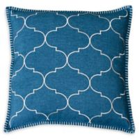 Thro Ava Whipstitch Square Throw Pillow in Teal Green
