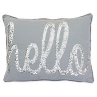 Thro Hello Sequin Throw Pillow in Silver