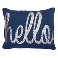 Thro Hello Sequin Oblong Throw Pillow in Navy