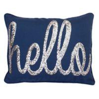 Buy Navy Gold Throw Pillow Bed Bath Beyond
