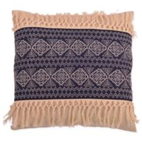 Thro Harriet Embroidered Square Throw Pillow in Blue