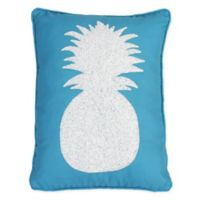Alevia Pine Pineapple Throw Pillow in Teal Blue