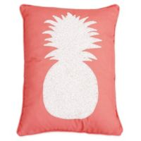 Alevia Pine Pineapple Throw Pillow in Pink
