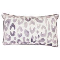 Miron Cheetah Rectangle Throw Pillow in Light Purple