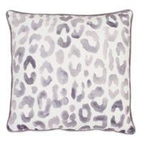 Miron Cheetah Square Throw Pillow in Light Purple