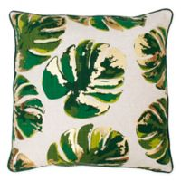 Wallace Leaf Throw Pillow in Green