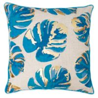 Wallace Leaf Throw Pillow in Blue