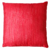Vilma Square Throw Pillow in Red