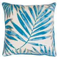 Thro Don Remilly Leaf Square Throw Pillow in Blue