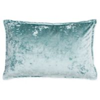 Thro Iliana Ice Velvet Square Throw Pillow in Light Blue